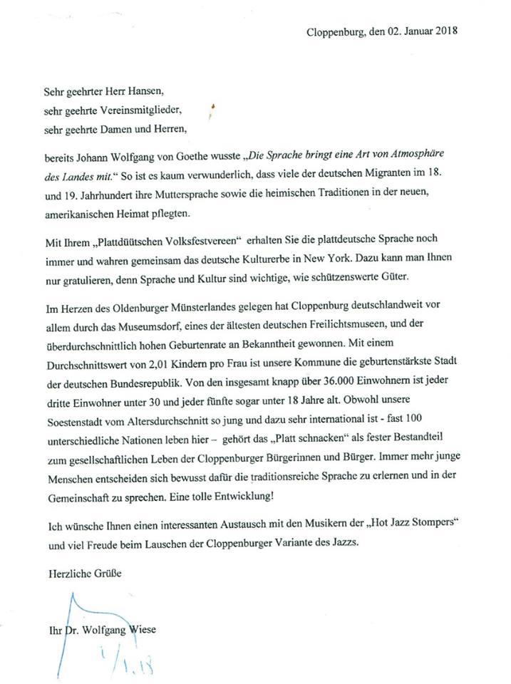 Grußwort Bürgermeister Wiese CLP